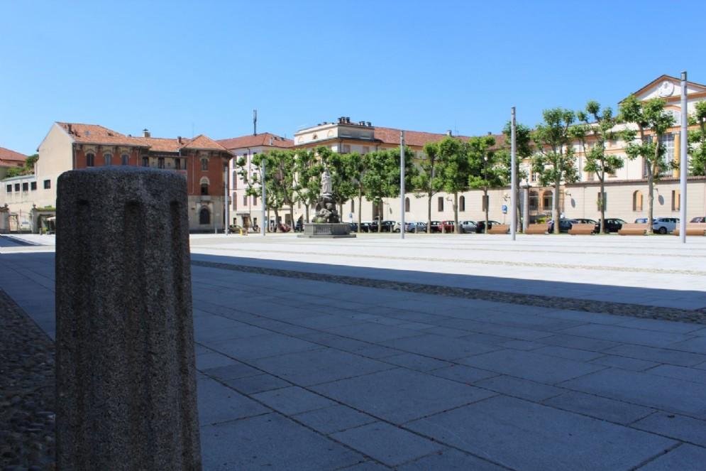 Biella: Piazza Duomo vista Seminario