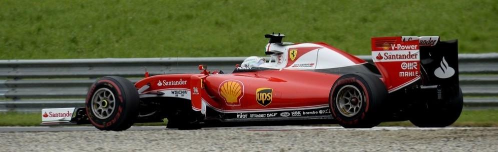Sebastian Vettel in gara allo Spielberg