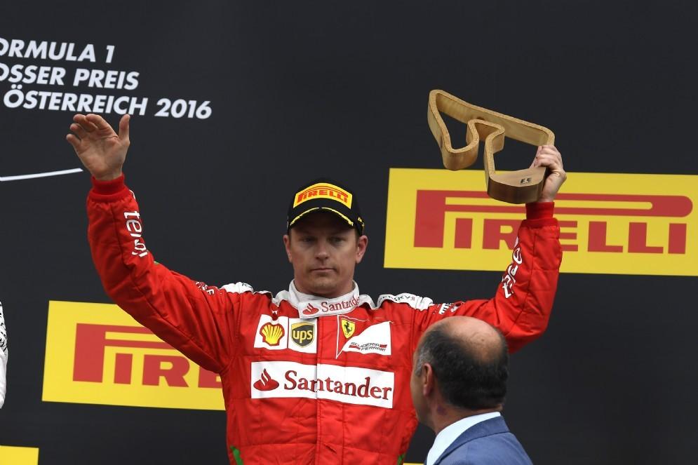 Kimi Raikkonen sul podio in Austria