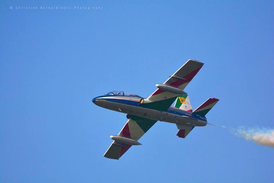 Un dettaglio degli splendidi aerei che ieri hanno emozionato i torinesi