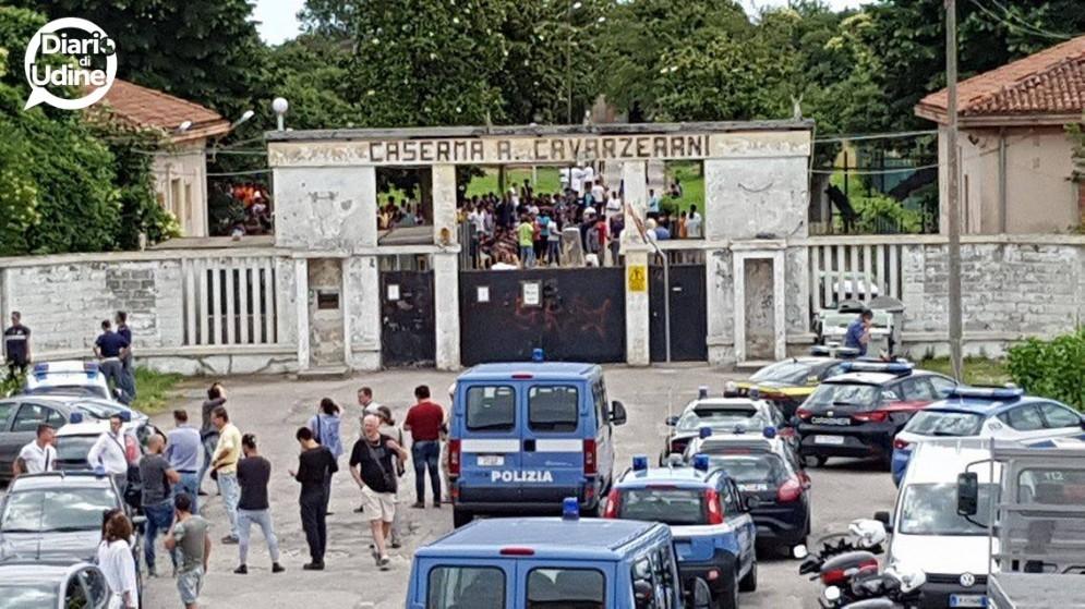 Le immagini della Caserma Cavarzerani di Udine (© Diario di Udine)