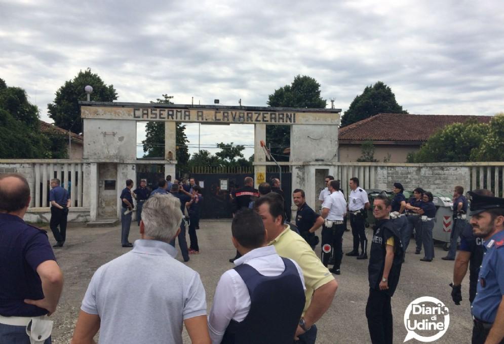 Le immagini della Caserma Cavarzerani di Udine