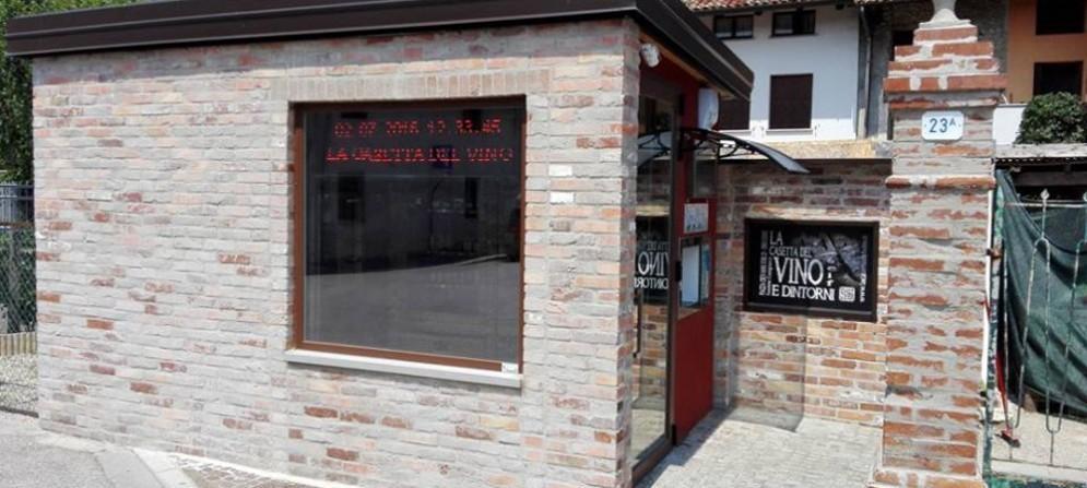 La casetta del vino di Cussignacco, inaugurata pochi giorni fa, è la prima in Fvg
