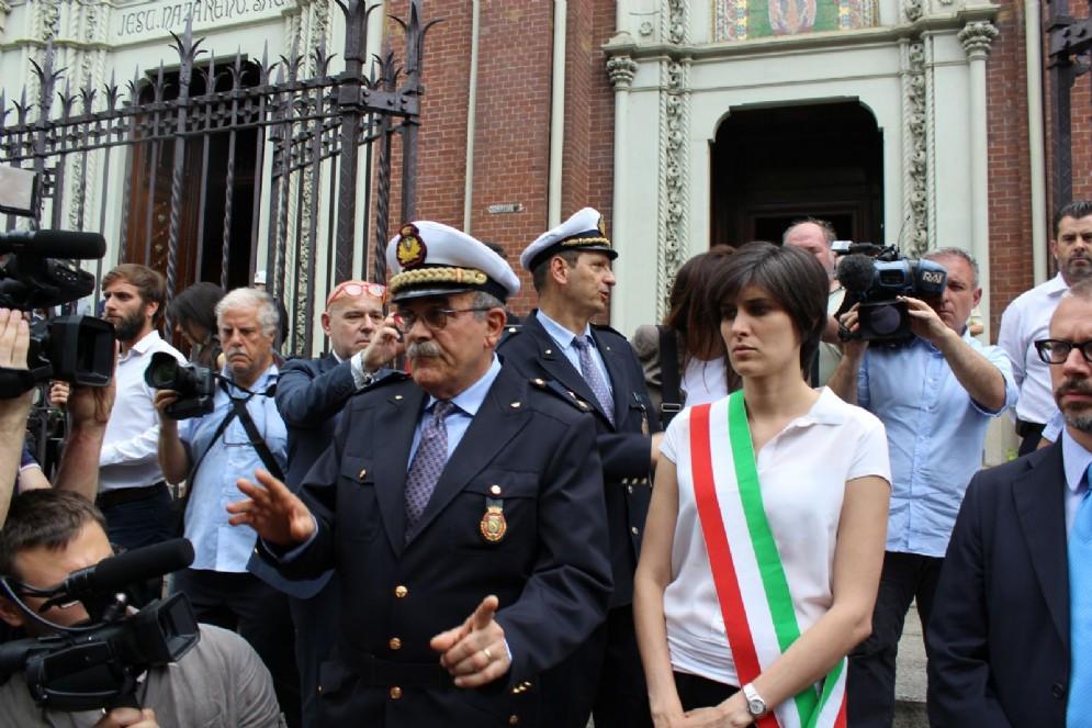 Con il sindaco, anche il comandante della polizia municipale Alberto Gregnanini