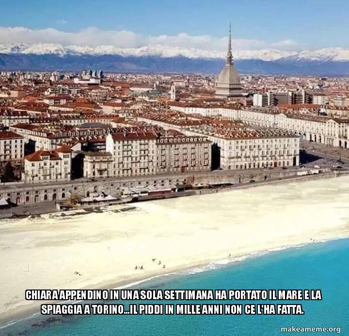 Che poi, in fondo, il mare a Torino lo vorremmo davvero tutti