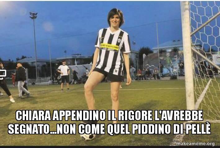 La Nazionale di calcio, il rigore di Pellè e... Chiara Appendino