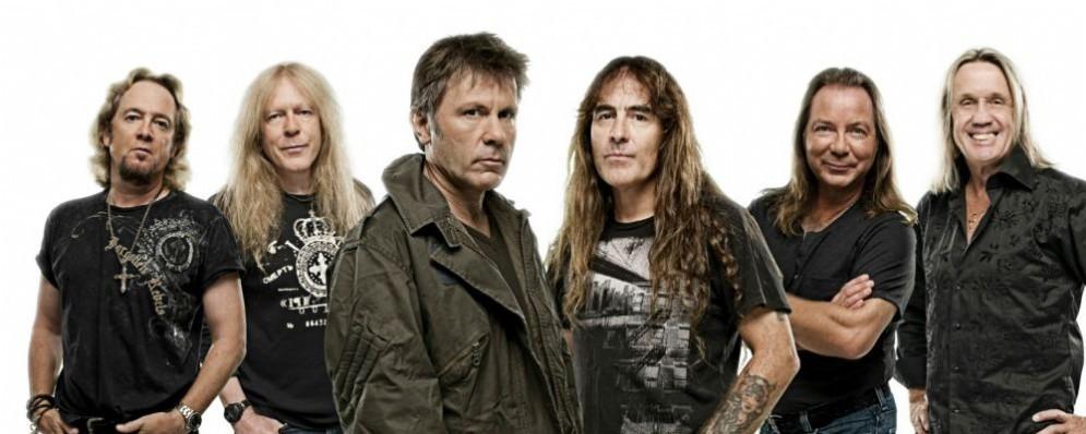 Gli Iron Maiden in concerto a Trieste