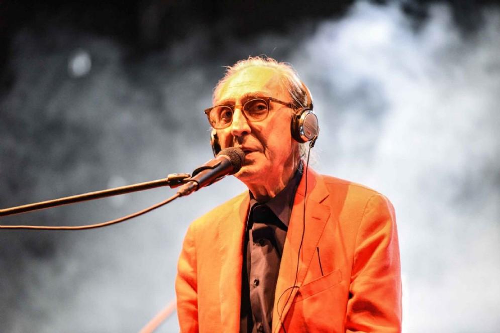 Franco Battiato sul palco