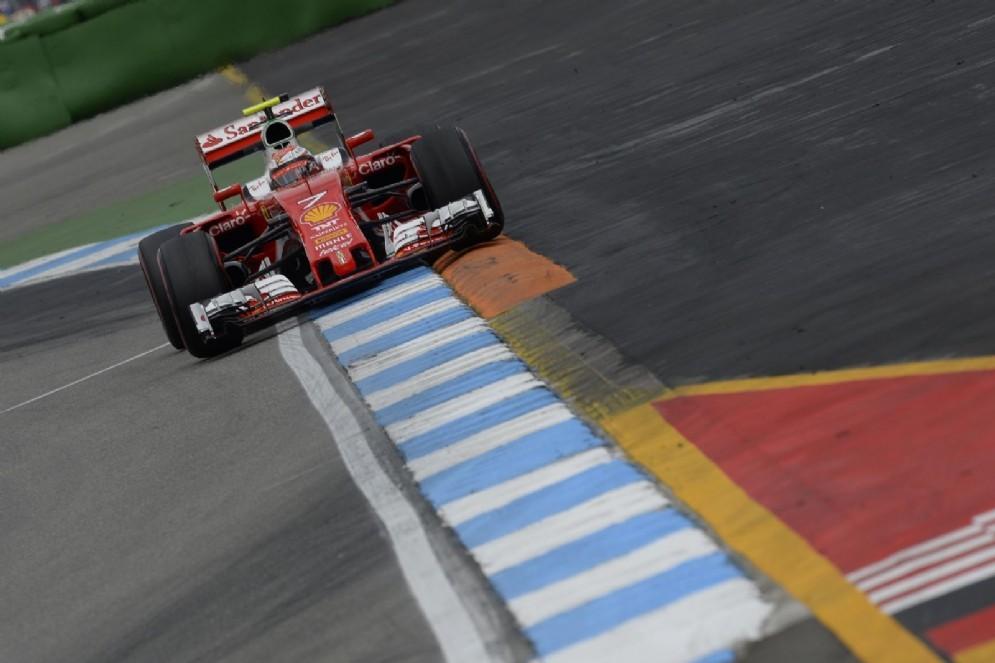 Kimi Raikkonen in pista in Germania