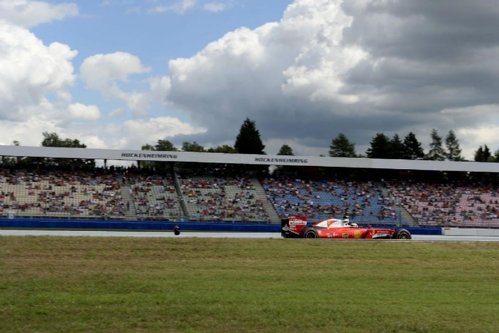 Vettel davanti al suo pubblico di casa