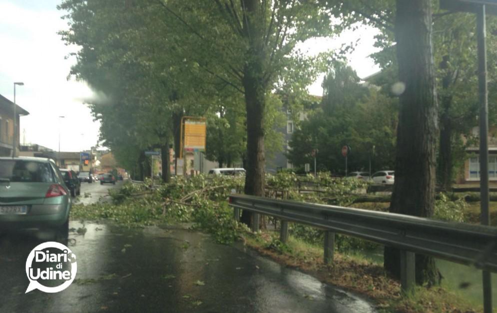 Le conseguenze del maltempo a Udine