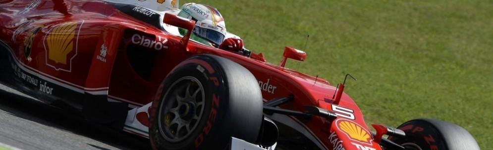 Sebastian Vettel in azione a Hockenheim