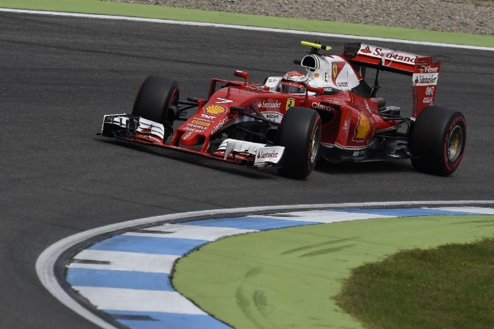Kimi Raikkonen in pista nel GP di Germania