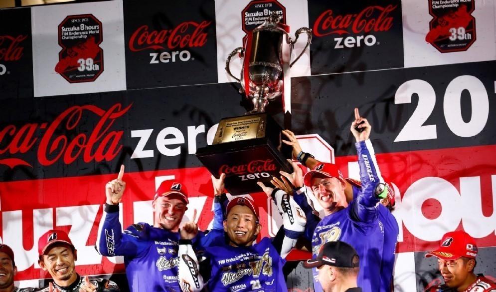 La Yamaha sul gradino più alto del podio della 8 Ore di Suzuka