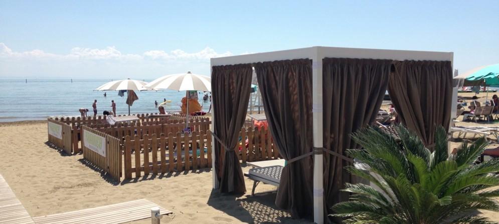 Gli spazi della Doggy Beach premiati a Milano