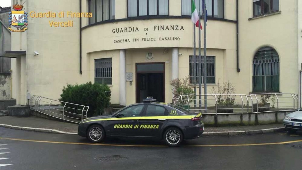Il comando provinciale della Guardia di Finanza di Vercelli