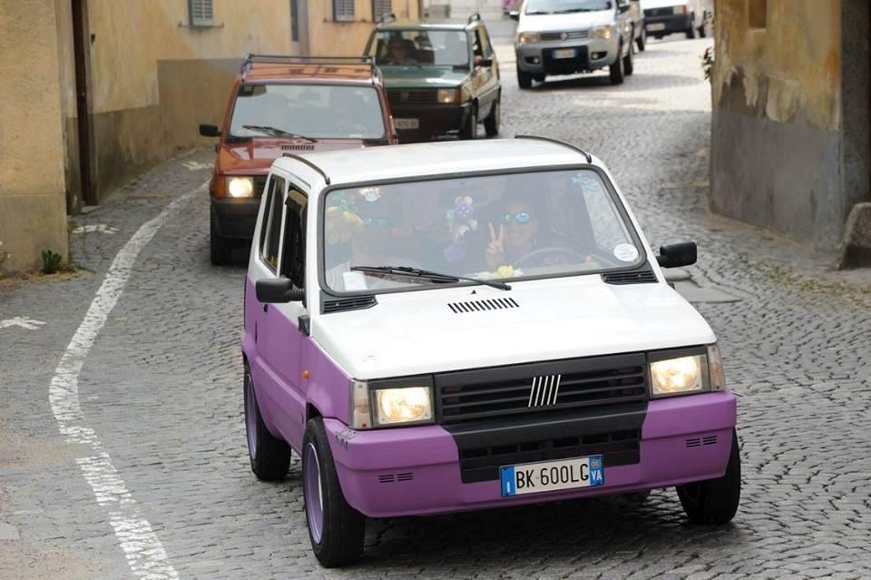 Le auto partecipanti al 1° Raduno Fiat Panda del Biellese