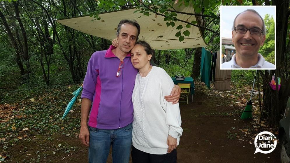Guido e Antonella e, nel riquadro, il sindaco Maiarelli