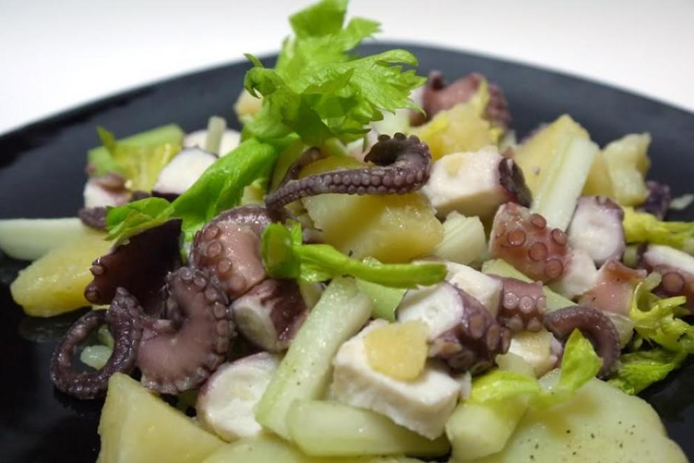 Ricetta dell'insalata di polpo con le patate