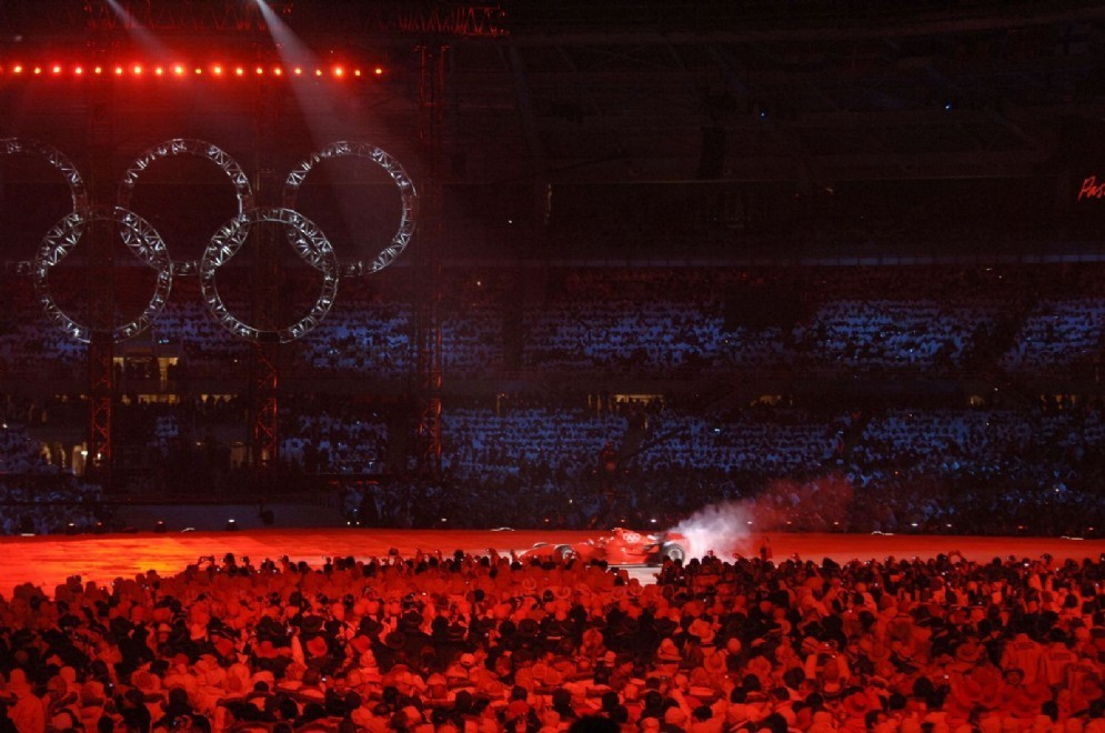 La Ferrari alla cerimonia di apertura delle Olimpiadi di Torino 2006