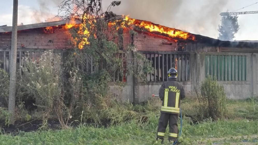 Incendio a Grugliasco (© Diario di Torino)