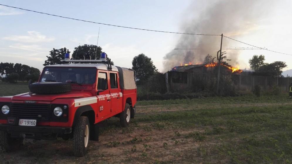 Incendio a Grugliasco