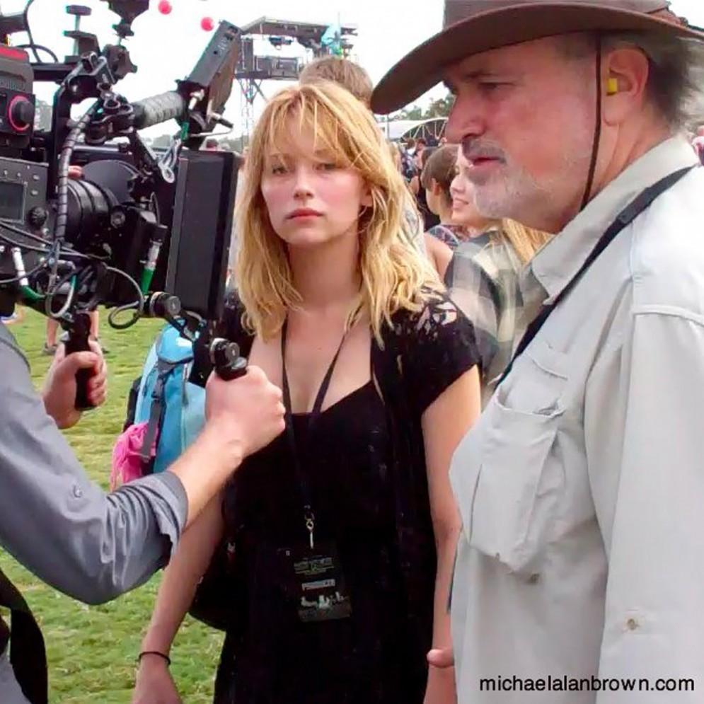 Terrence Malick durante le riprese di uno dei suoi film