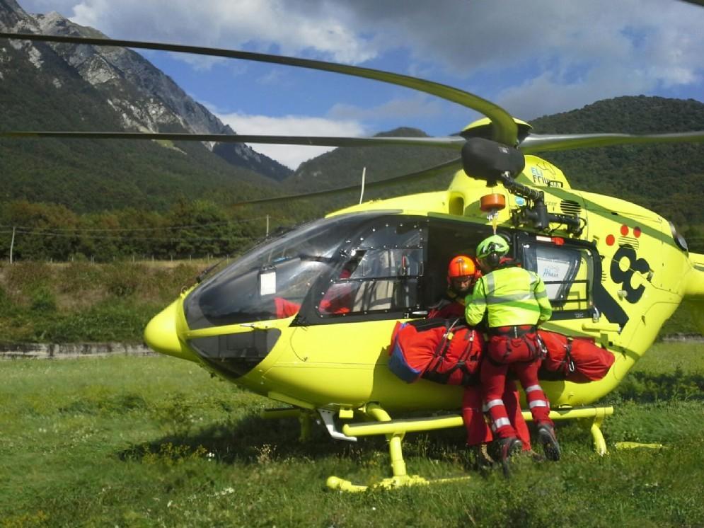 L'intervento di soccorso in località Stalis