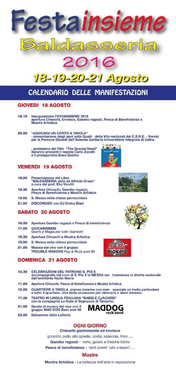 Ecco il programma della manifestazione di San Pio X
