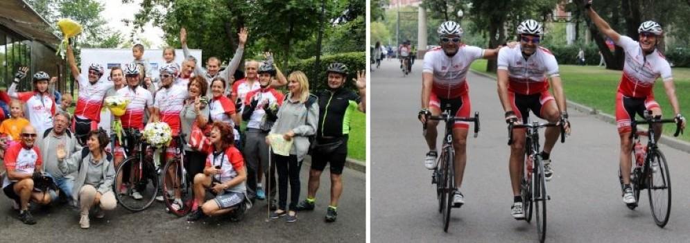 L'arrivo dei ciclisti a Mosca
