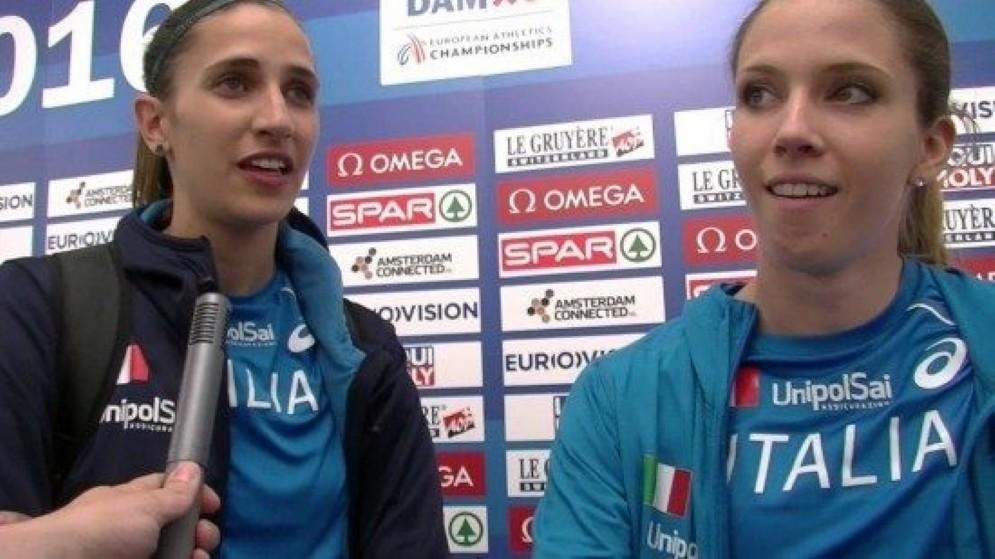 Le due atlete friulane Trost e Rossit