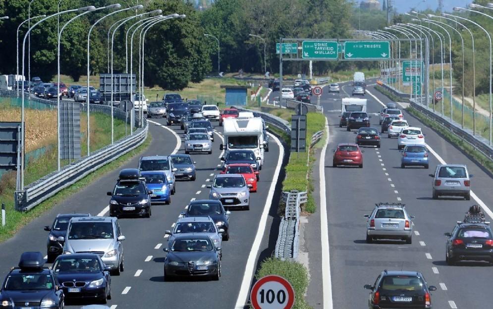 Traffico intenso sulle autostrade del Fvg