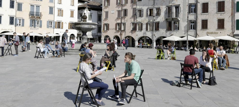 L'installazione interattiva dell'artista vicentino Fabio Ranzolin già presente a Udine nei mesi scorsi