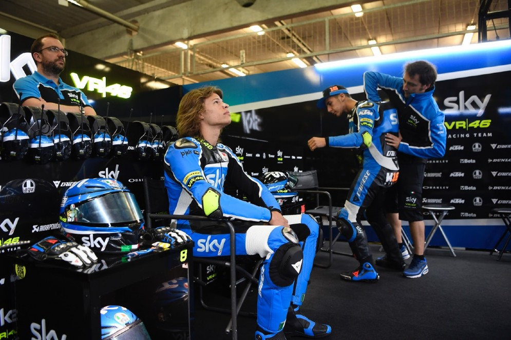 Bulega e Migno con il team manager