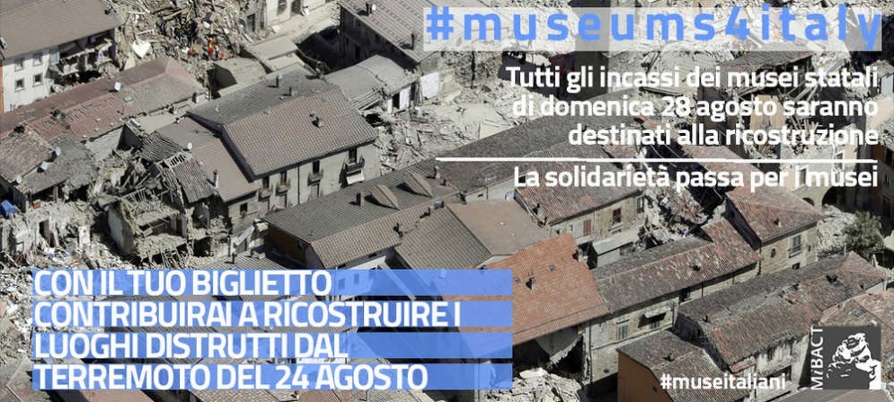 L'iniziativa del Ministro Dario Franceschini per i terremotati del centro Italia