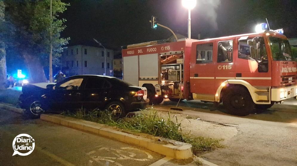 La Saab coinvolta nell'incidente