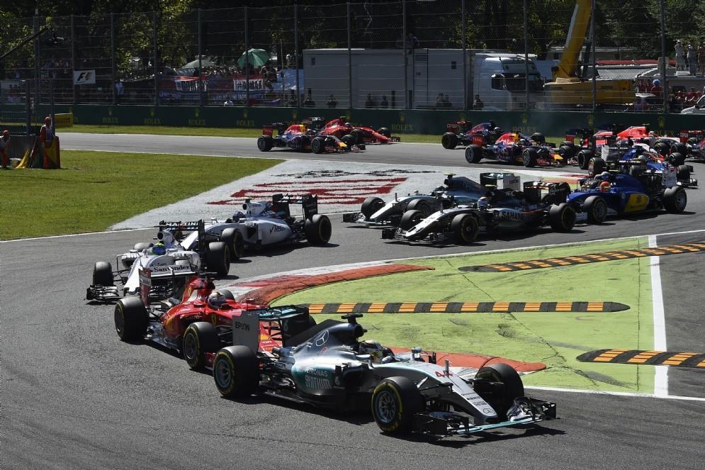 La partenza del Gran Premio d'Italia