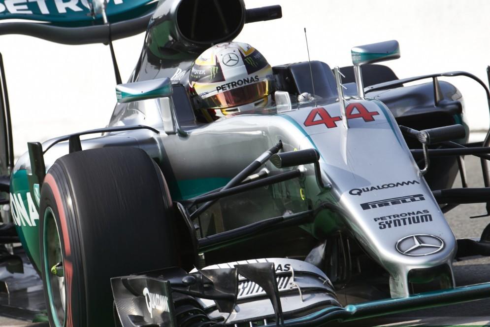 Lewis Hamilton in azione a Monza