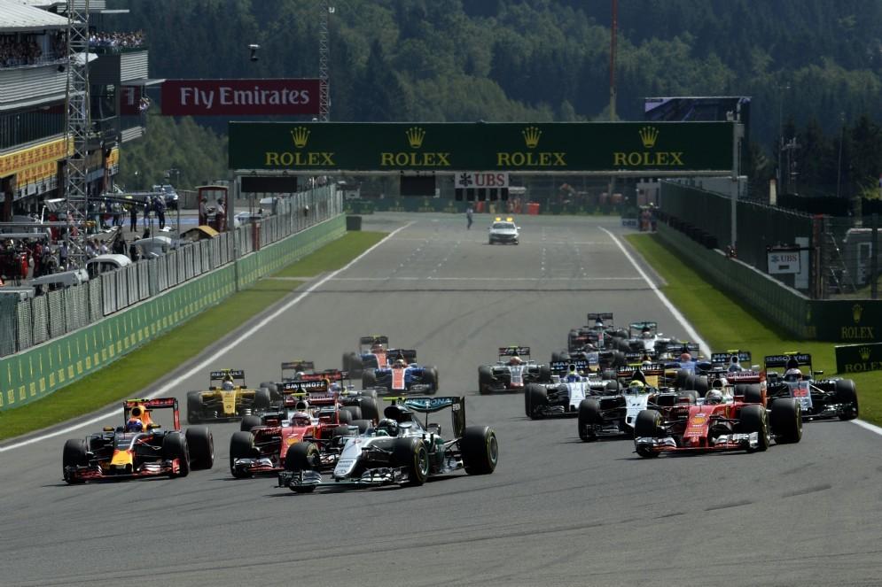 La partenza di un Gran Premio di Formula 1
