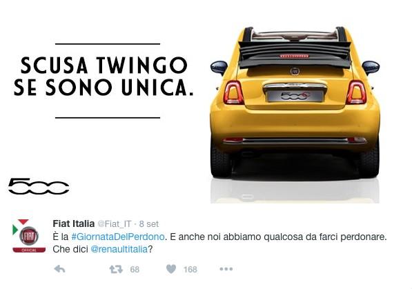 Fiat: Scusa Twingo se sono unica