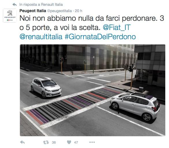 Peugeot: Noi non abbiamo nulla da farci perdonare. 3 o 5 porte, a voi la scelta.