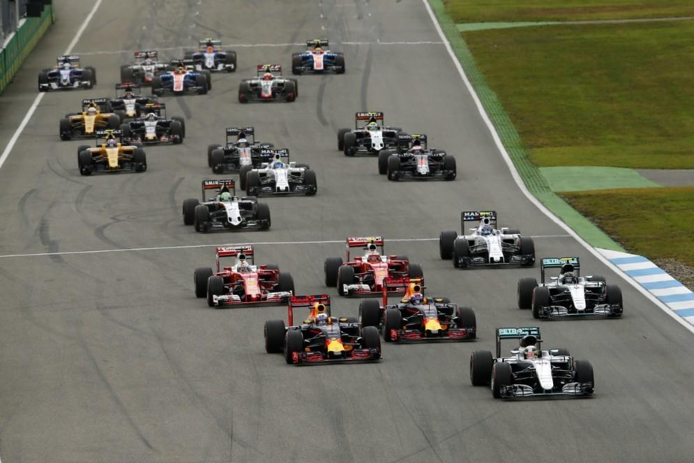 La partenza del Gran Premio di Germania