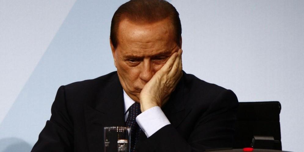 Il leader di Forza Italia Silvio Berlusconi.