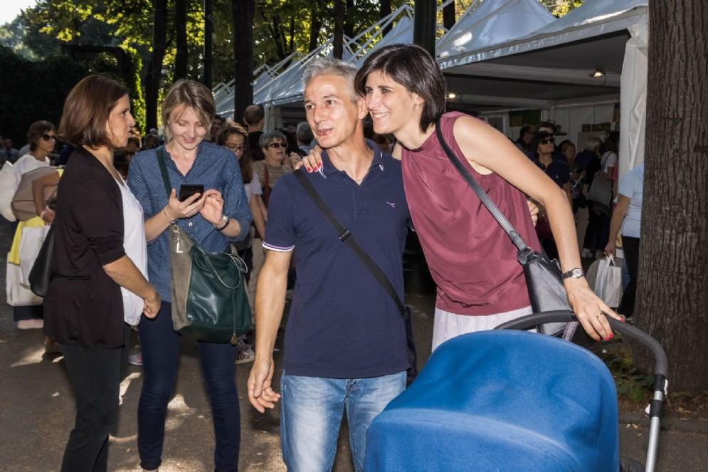 Anche la sindaca Chiara Appendino ha partecipato al Salone in compagnia della figlia