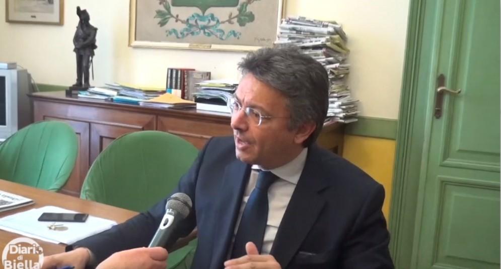 Marco Cavicchioli, nel suo ufficio a Palazzo Oropa
