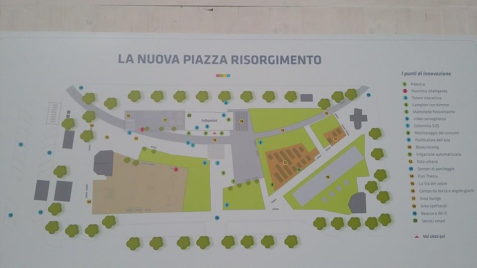 La piantina della prima piazza Smart in tutta Italia