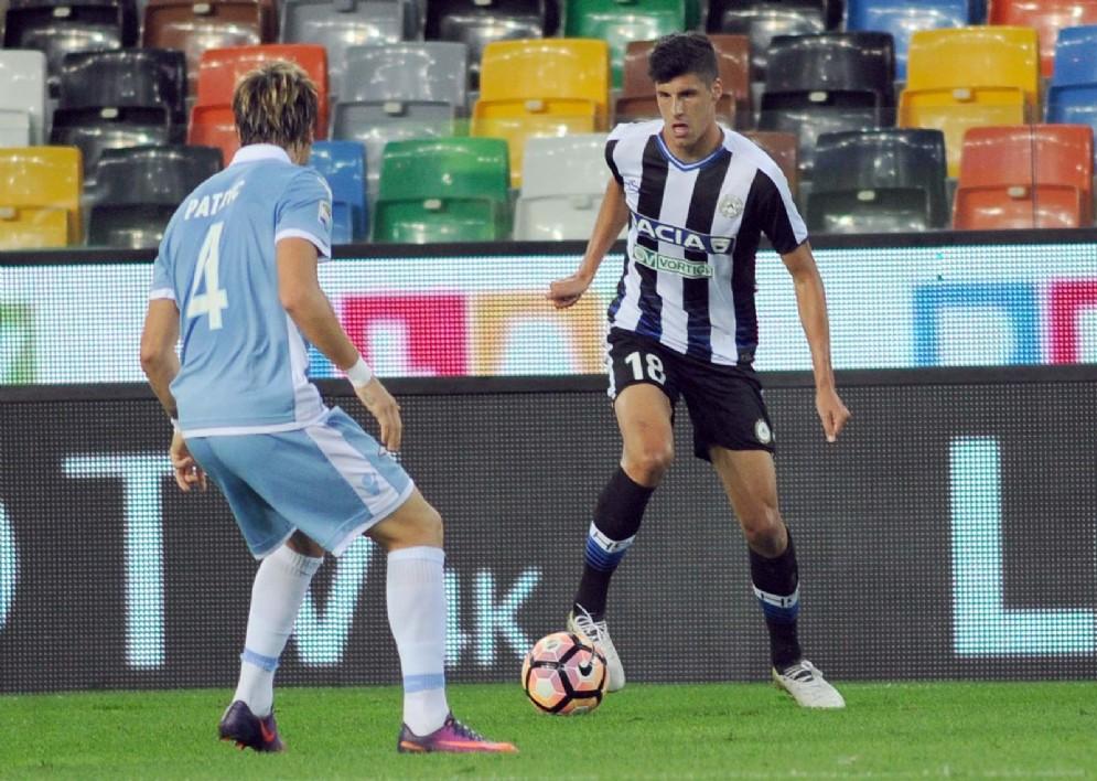 I giocatori di Udinese e Lazio