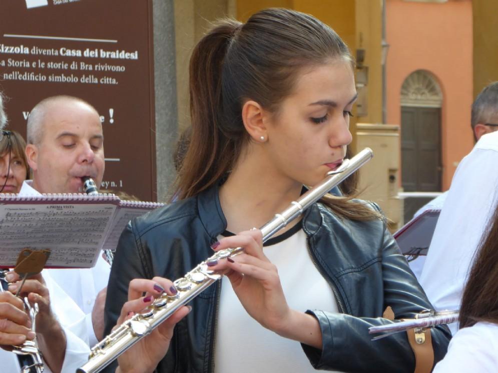 La banda ha suonato fino in piazza Caduti