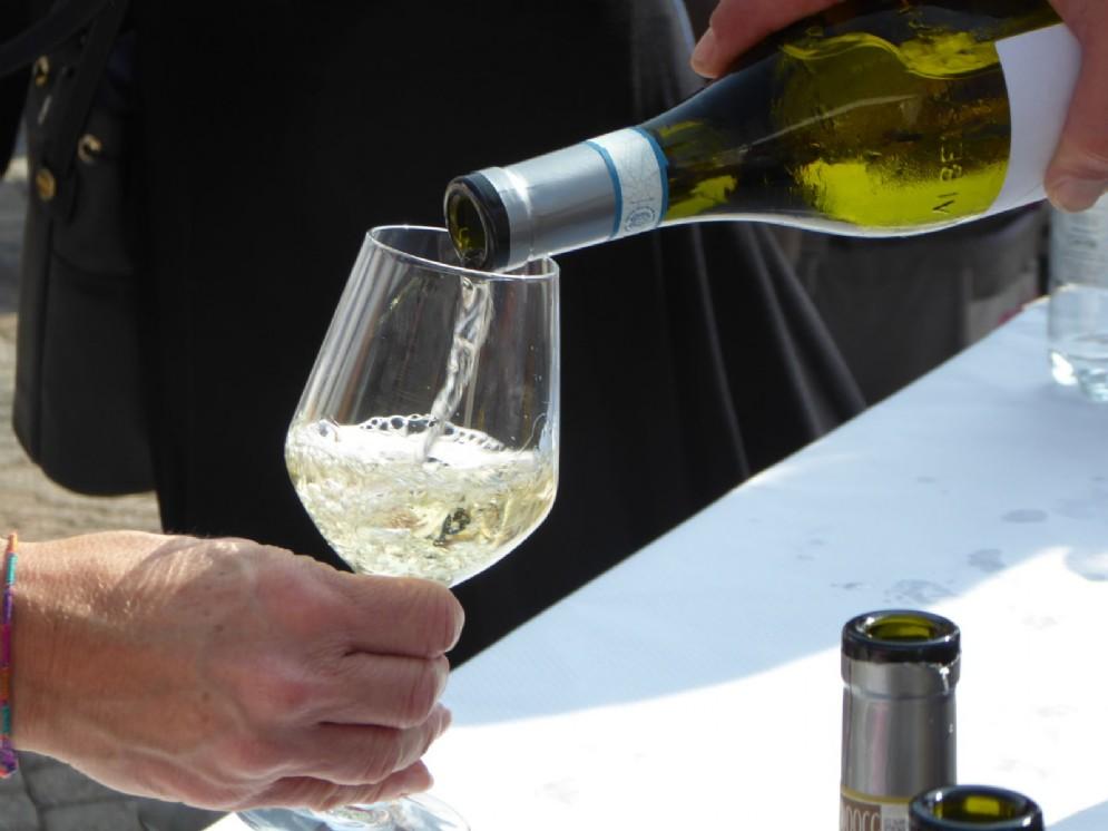 Il pranzo era accompagnato da ottimi vini piemontesi