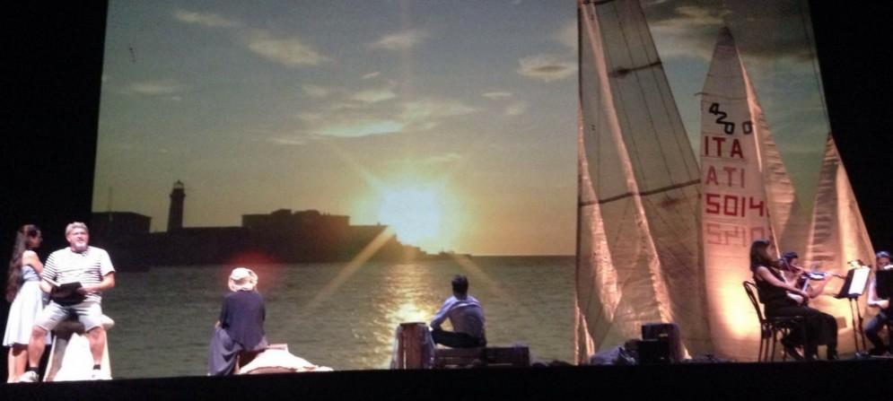 """Una scena dello spettacolo """"Racconti di costa e di mare"""""""